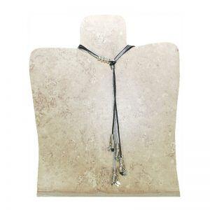 Collar colgantes plateados