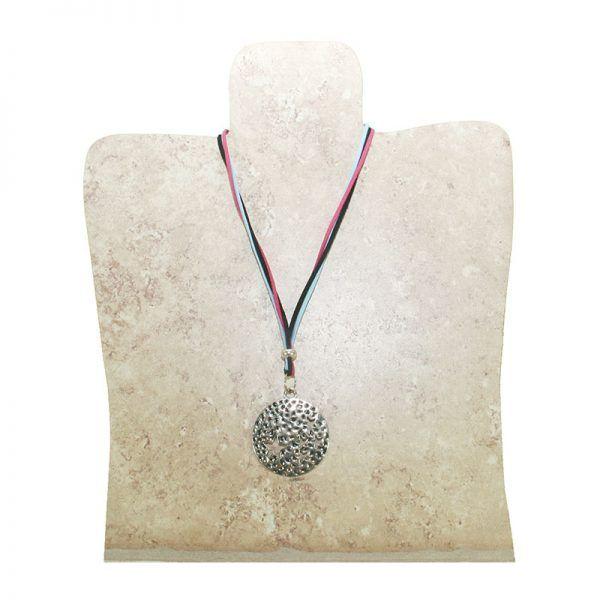 collar circulo decorado