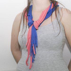 collar trapillo dos colores
