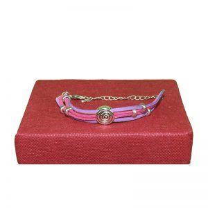 pulsera rosa y lila